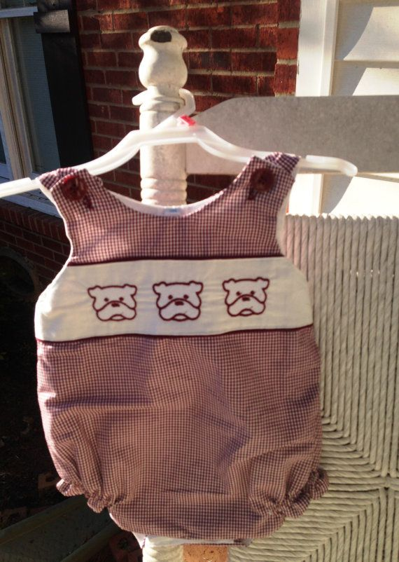Mississippi State Girls Romper With Bulldog Applique Size 3 Months