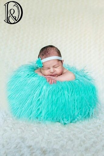Newborn props photography picture more detailed picture about quality faux fur blanket basket stuffer mongolia fur photography props newborn photography