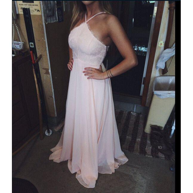 Chiffon Prom Dress with Halter Neckline Evening Party Dresses pst0800
