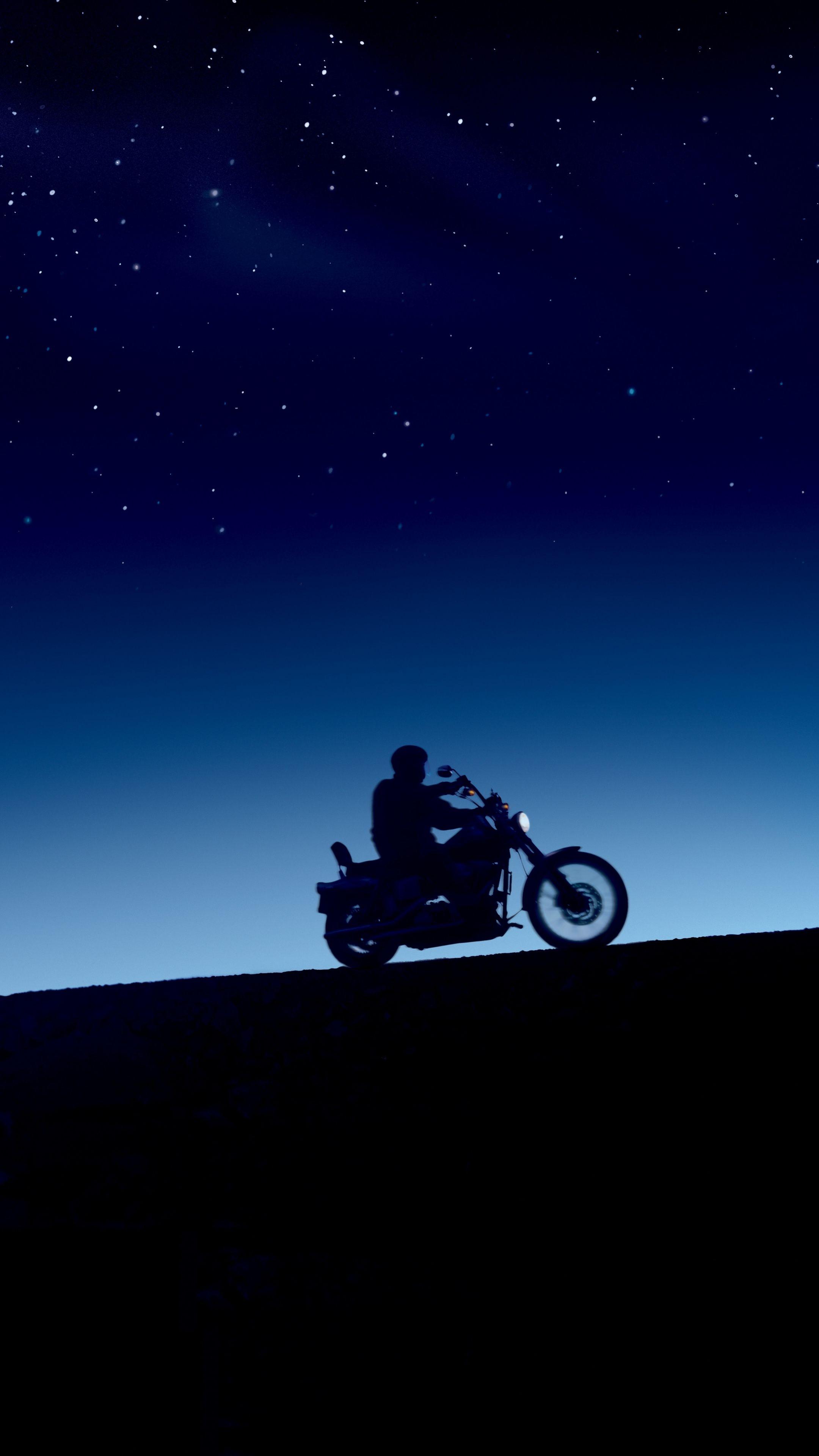 2160x3840 Evening, bike ride, silhouette, sunset wallpaper
