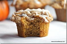 (Tastes Just Like Dunkin' Donuts') Streusel Topped Pumpkin Muffins with Cream Cheese Glaze | Tasty Kitchen: A Happy Recipe Community!