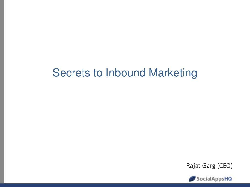 inbound-marketing-23134057 by ProductNation.in via Slideshare