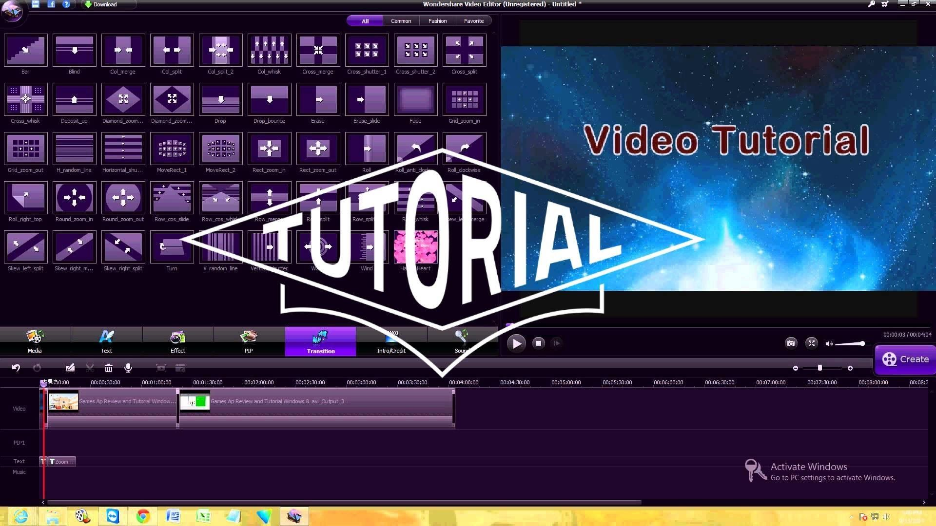 Wondershare Video Editor Review and Tutorial | Instructional