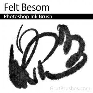 Felt Besom - Photoshop Ink Brush | Photoshop Brushes