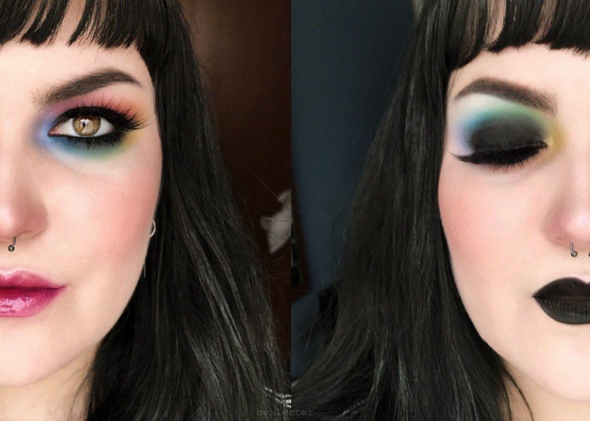 Pride Makeup Tutorial Pastel Goth Rainbow by Bex Pride
