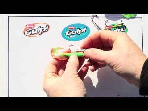 Using soft plastics - Gulp Minnow grub and Jiggin grub - YouTube