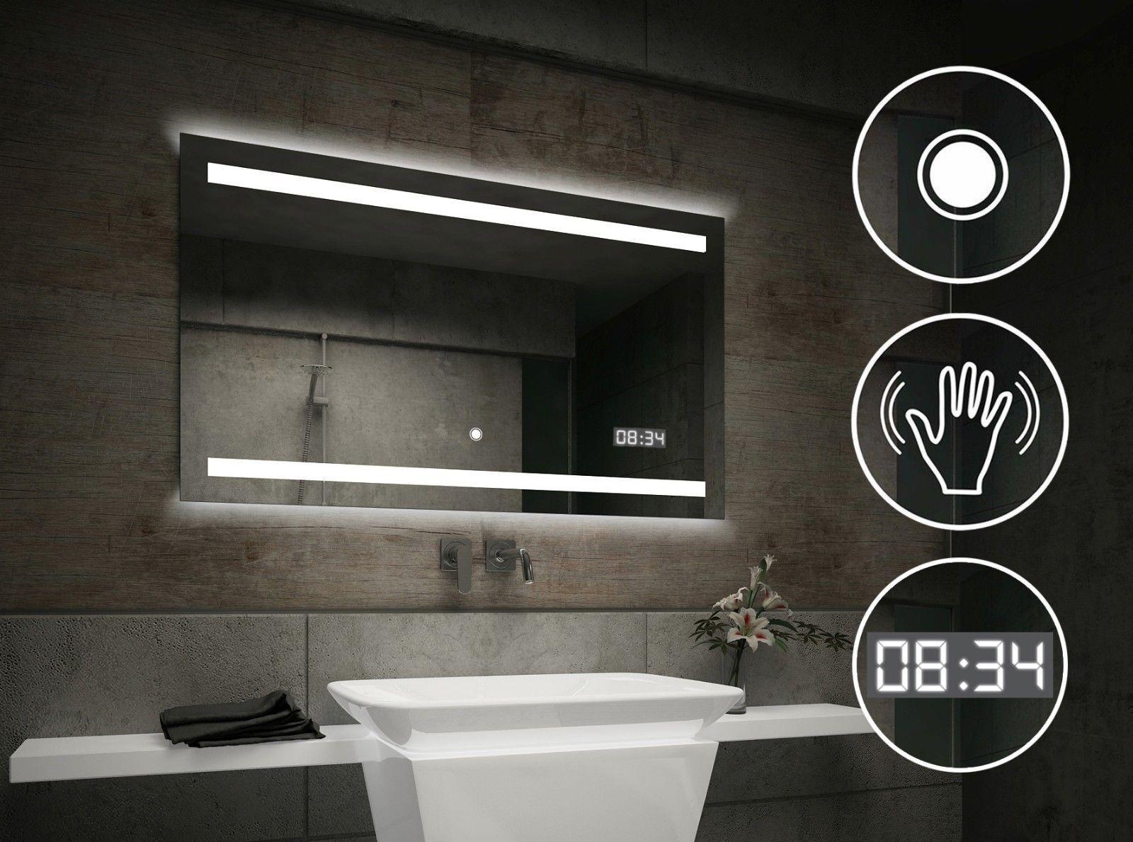 Led Spiegel Badkamer : Moderne badkamer spiegel met led l schakelaar led klok check