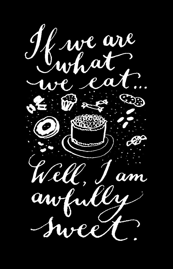 Found this black and white version of my design on Pinterest! (hand lettering by Kelly Cummings)