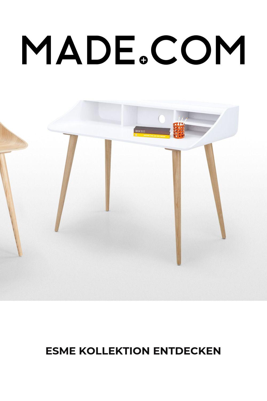 Esme Schreibtisch, Esche und Weiß