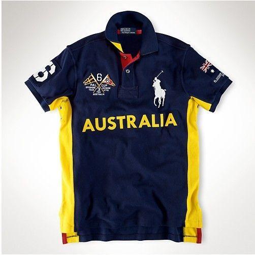 Mens polo Ralph Lauren australia Country Ocean Race navy Polo ...