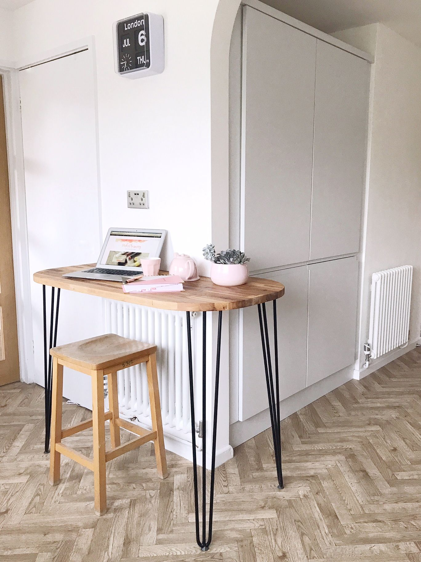 How To Make A Mid Century Inspired Breakfast Bar With Hairpin Legs