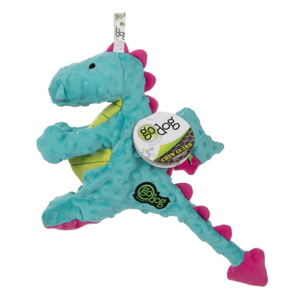 Godog Dragon Dog Toy Large Turquoise Blue Dog Toys Plush