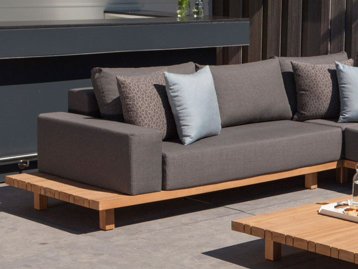 paradiso lounge loungegruppe exotan teak nanotex grau garten gartenm bel gartensofa. Black Bedroom Furniture Sets. Home Design Ideas