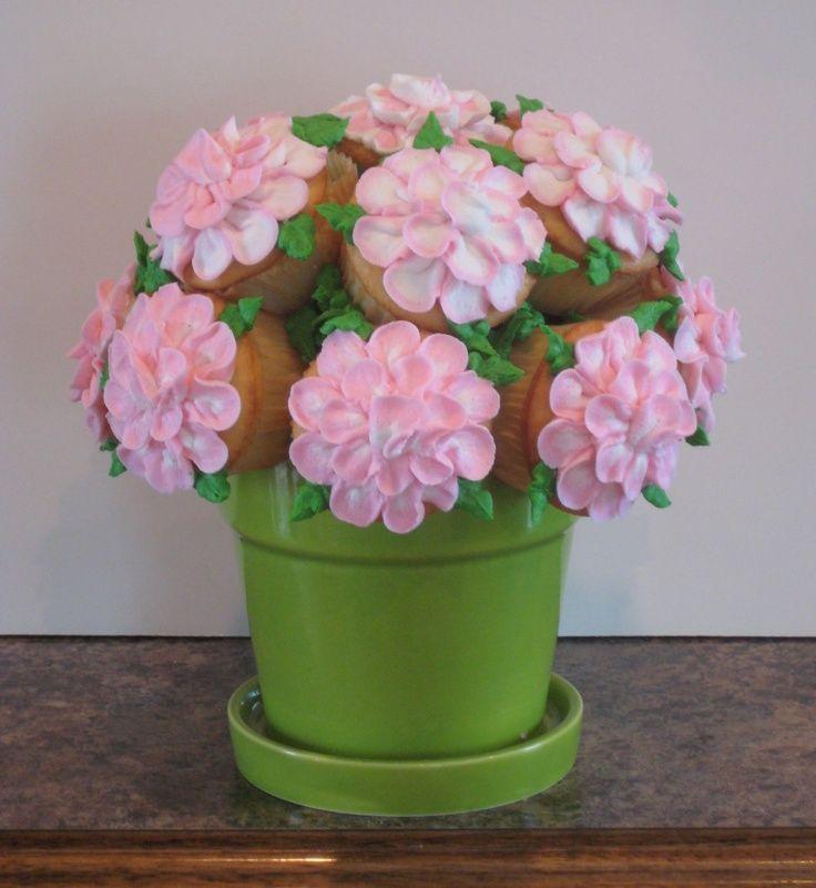 DIY Flower Pot Cupcake Bouquet   Cupcake Bouquet - I saw picutes of ...