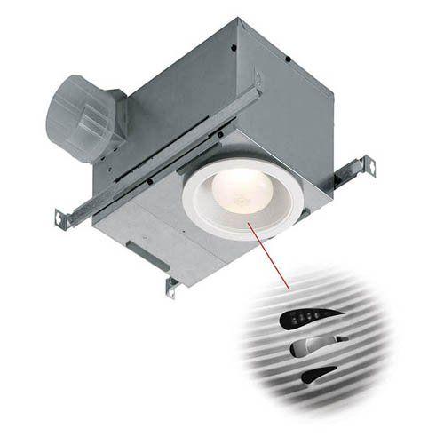 Broan-Nutone 744SFLNT Recessed Bathroom Humidity Sensing Fan / Light
