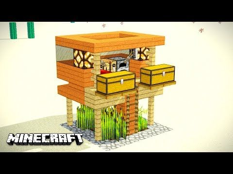 Small Beach SURVIVAL HOUSE Is X In Which There Is EVERYTHING - Minecraft modern house 5x5
