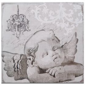 Adeco Decorative Wooden Angel Plaque Wall Decor