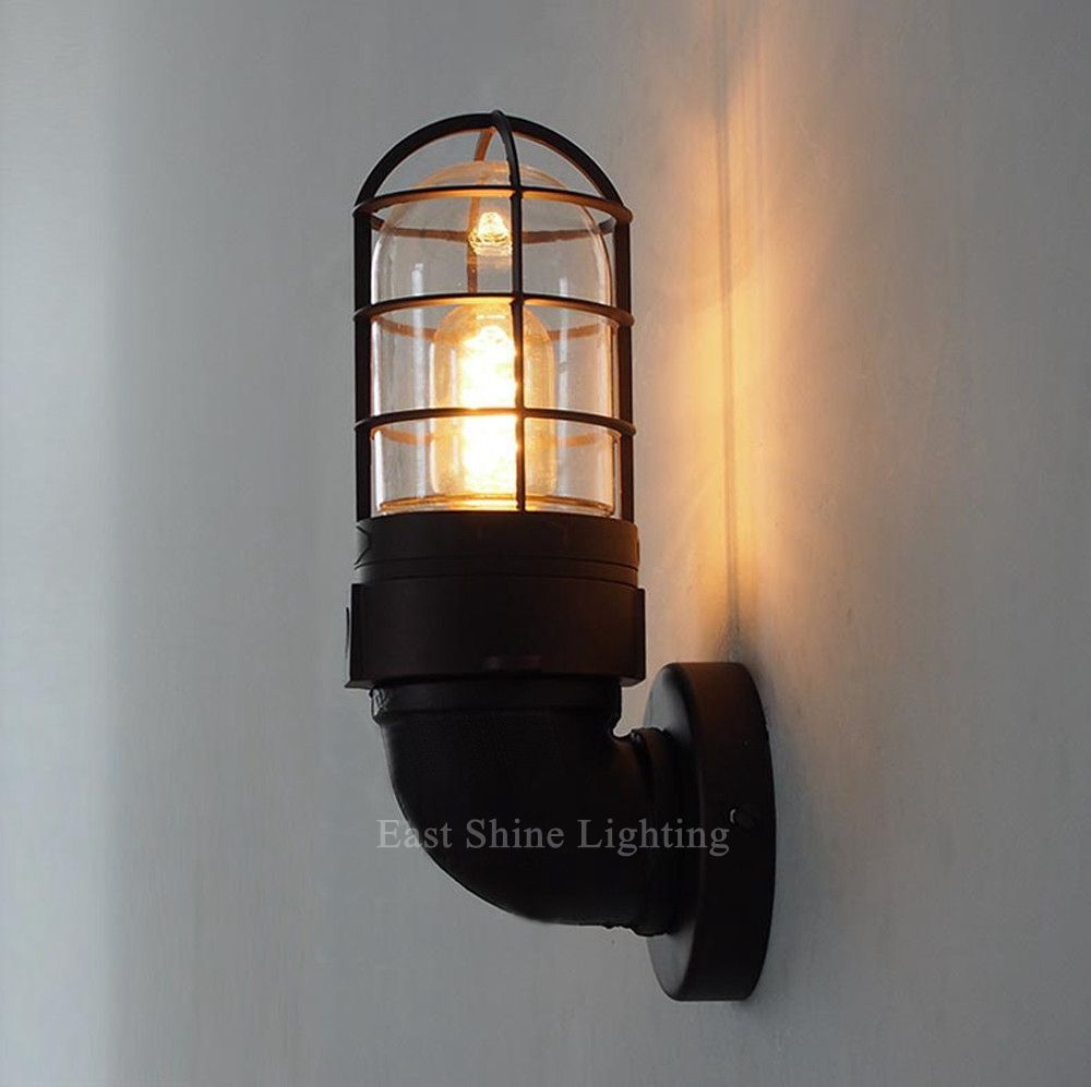 Vintage Retro Industrial Loft Rustic Wall Sconce Wall Lights Porch Lamp UK