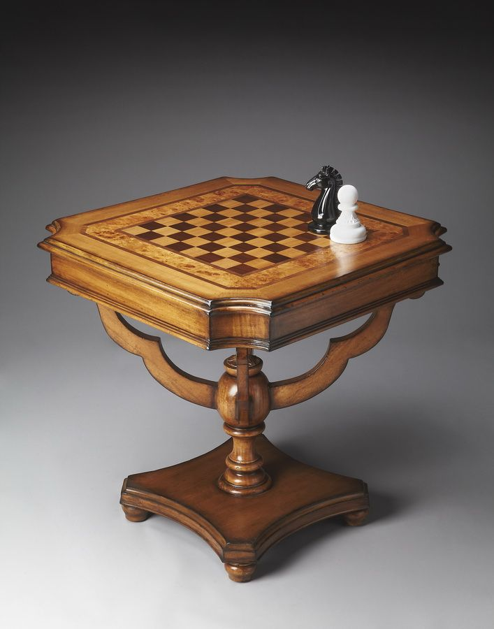 Butler 4168090 Connoisseur S Game Table Bt 4168090 At Homelement Com Wooden Chess Pieces Chess Table Table Games