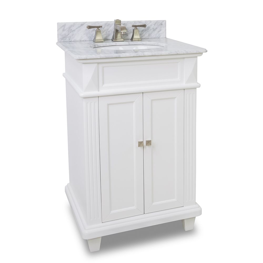 Exceptional Small White Bathroom Vanity With Marble Top