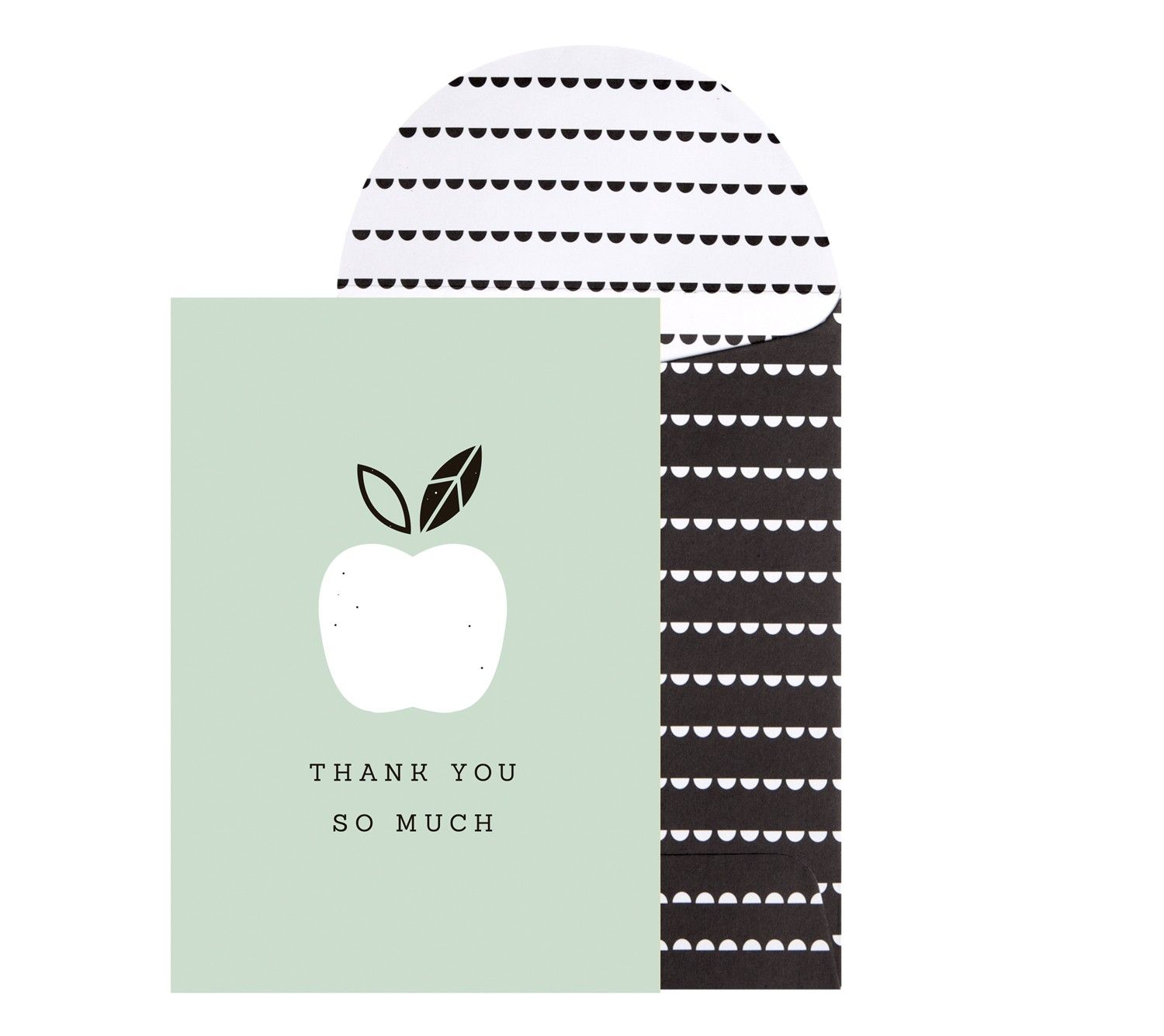Greeting Card Thank You So Much Love Food Stationary And Appreciation