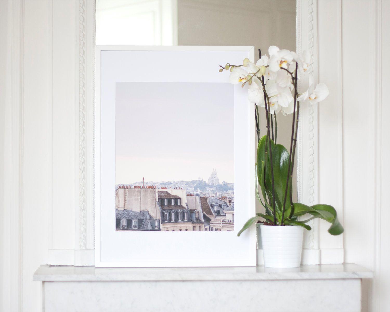 Paris Photography Print Home Decor 16x20 Fine Art Architecture Landscape Photography French Home Decor Sunset Grey