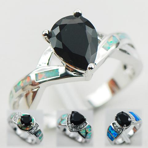 Black Stone N Silver Ring Collection Joyas, Arte