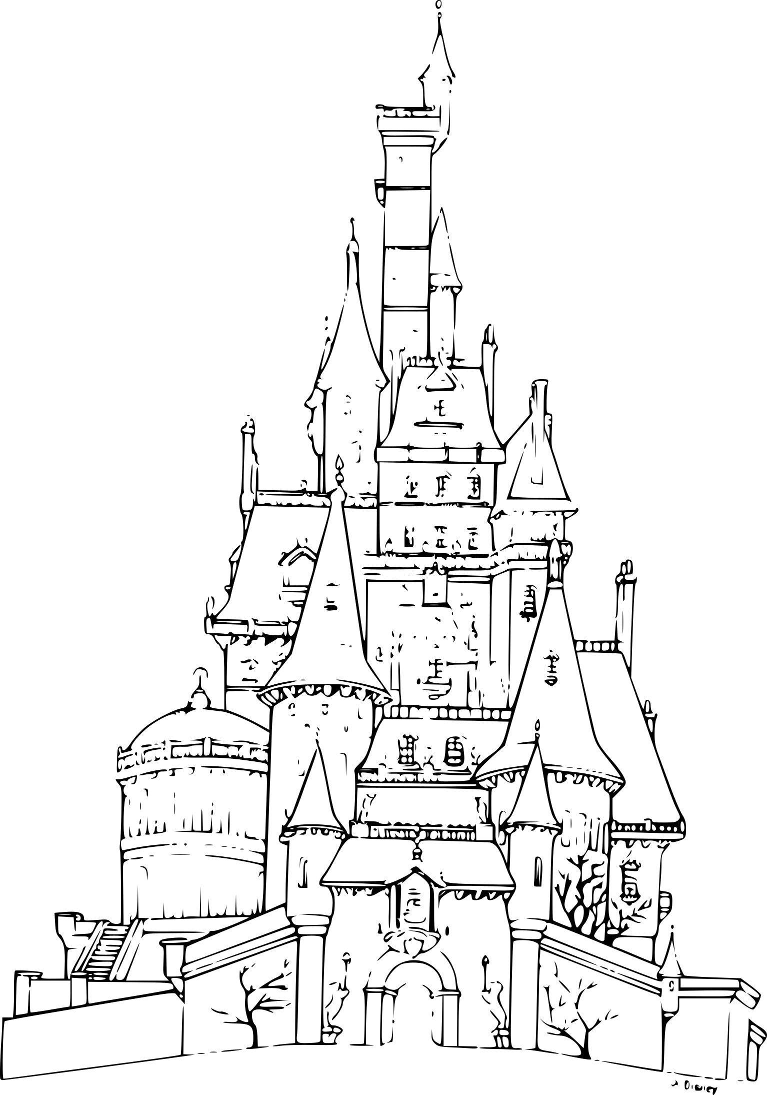 Coloriage Chateau Princesse en 2020   Coloriage chateau ...