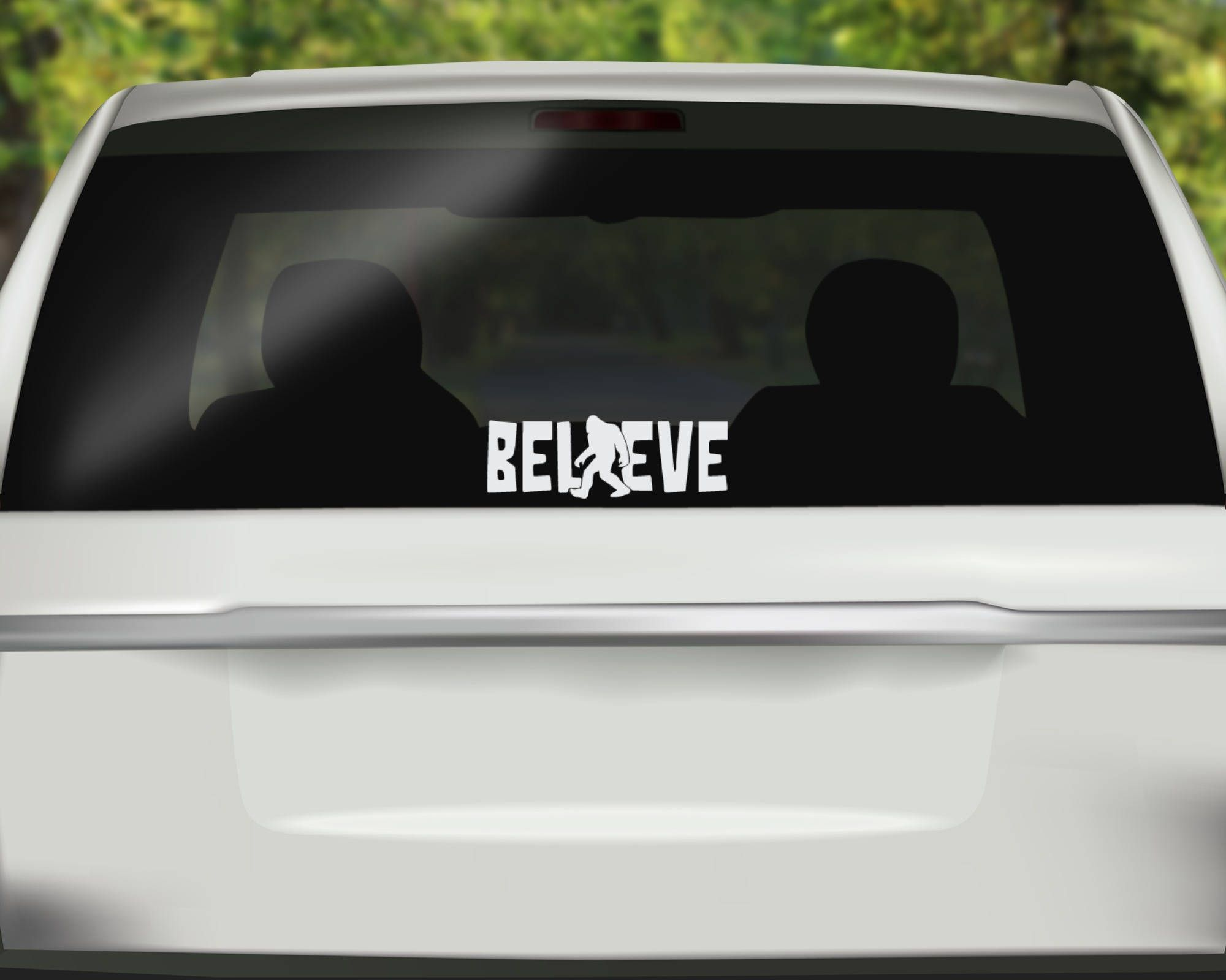 I Brake For Bigfoot Vinyl Car Window Laptop Decal Sticker