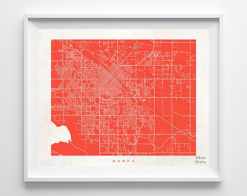 Nampa Street Map Print