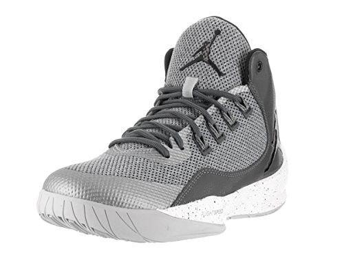 Nike Jordan Mens Jordan Rising High 2 Wolf Grey Black Dark Grey Basketball  Shoe 11 Men US bad3da534