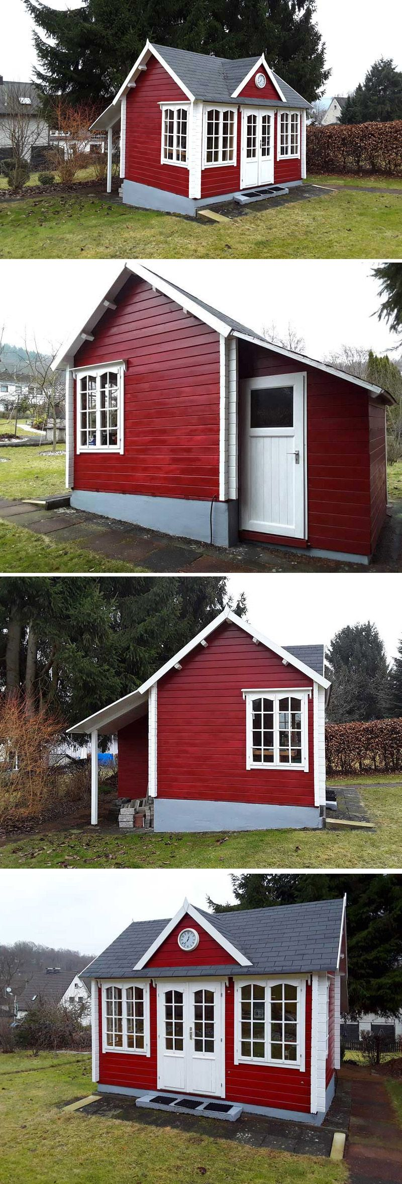 Clockhouse Mit Anbau Im Selbstbau So Toll Kann Es Aussehen Gartenhaus Selber Bauen Haus Und Gartenhaus