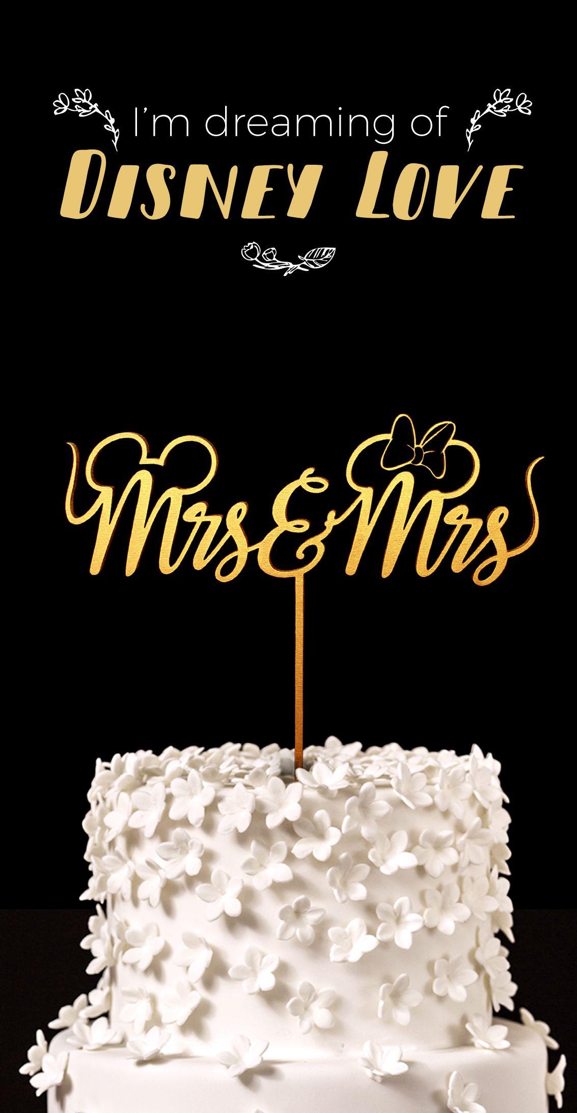 Mrs & Mrs Disney Wedding Cake Topper - Keepsake Wedding Cake Toppers ...