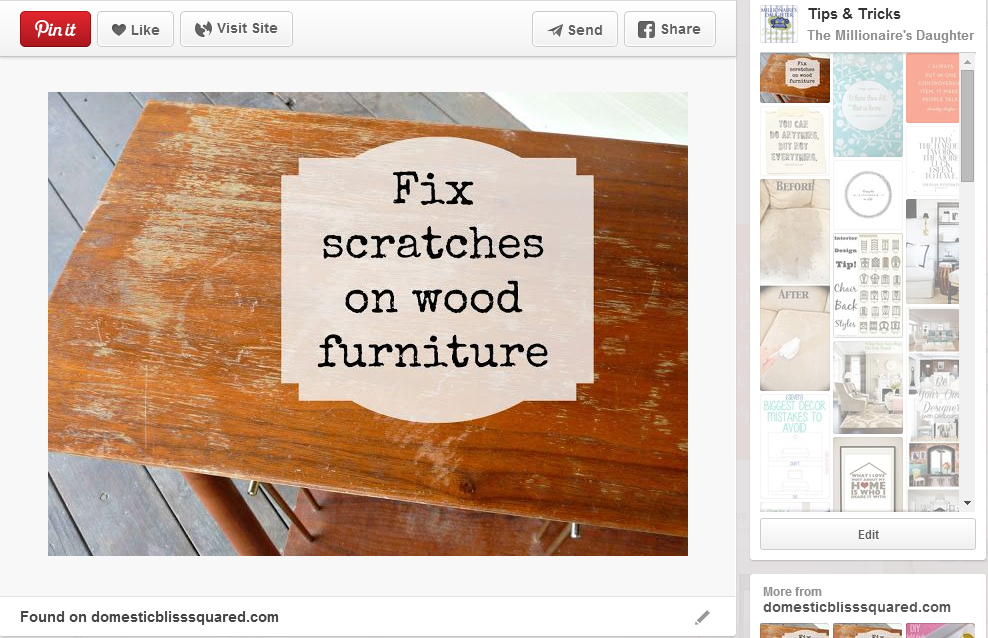 How To Fix Scratches On Wood Furniture Painting Diy