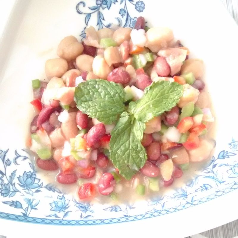 Wholesome And Filling Three Bean Salad Recipe By Deepika Vaswani At Betterbutter Recipe Bean Salad Recipes Bean Salad Three Bean Salad