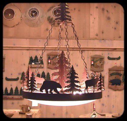 Rustic Northwoods Iron Chandelier