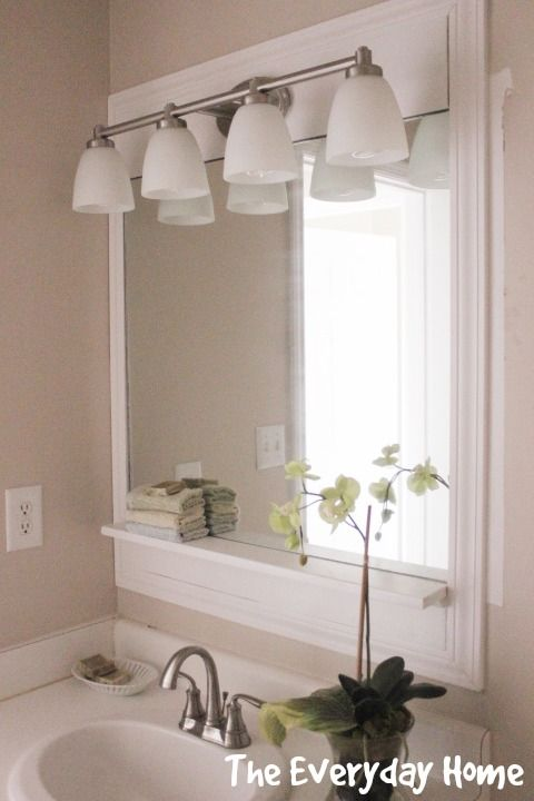 Good DIY Pottery Barn Inspired Bathroom Mirrors On A Budget From The Everyday  Home