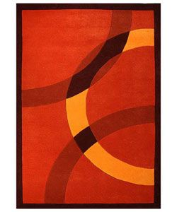 hand-tufted mystical orange wool rug (8' x 10'6) | wool, home and