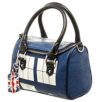 Amazon.com: Official TARDIS Mini Satchel and Metal Charm Keychain Shoulder Handbag, Blue: Home & Kitchen