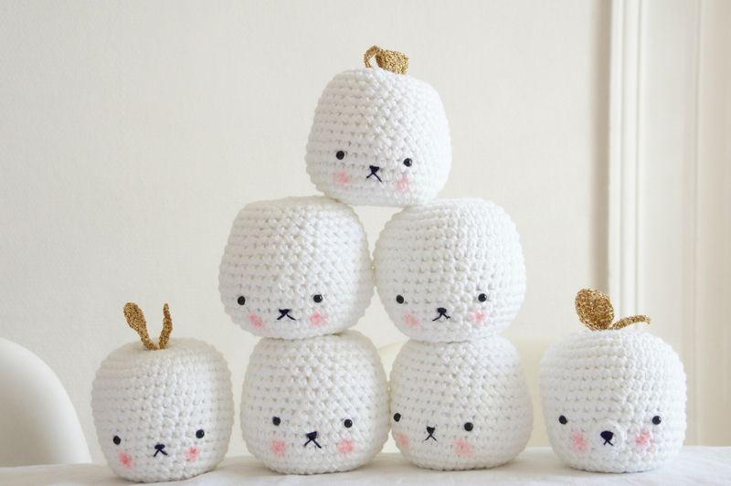Manzanas crochet caritas dulces