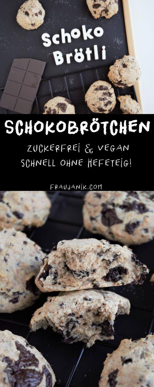 Schokobrötchen vegan & zuckerfrei - Frau Janik #sugarfree
