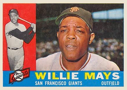 1960 Topps Willie Mays 200 Baseball Card Value Price Guide Baseball Cards Baseball Card Values Old Baseball Cards