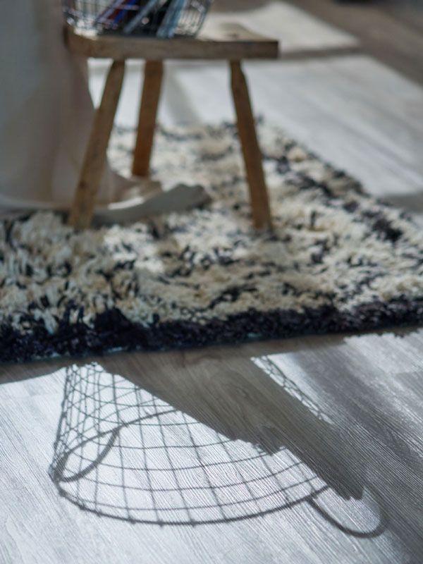 Schöner heller Teppich Vinylboden Holz grau Wohnzimmer Ideen
