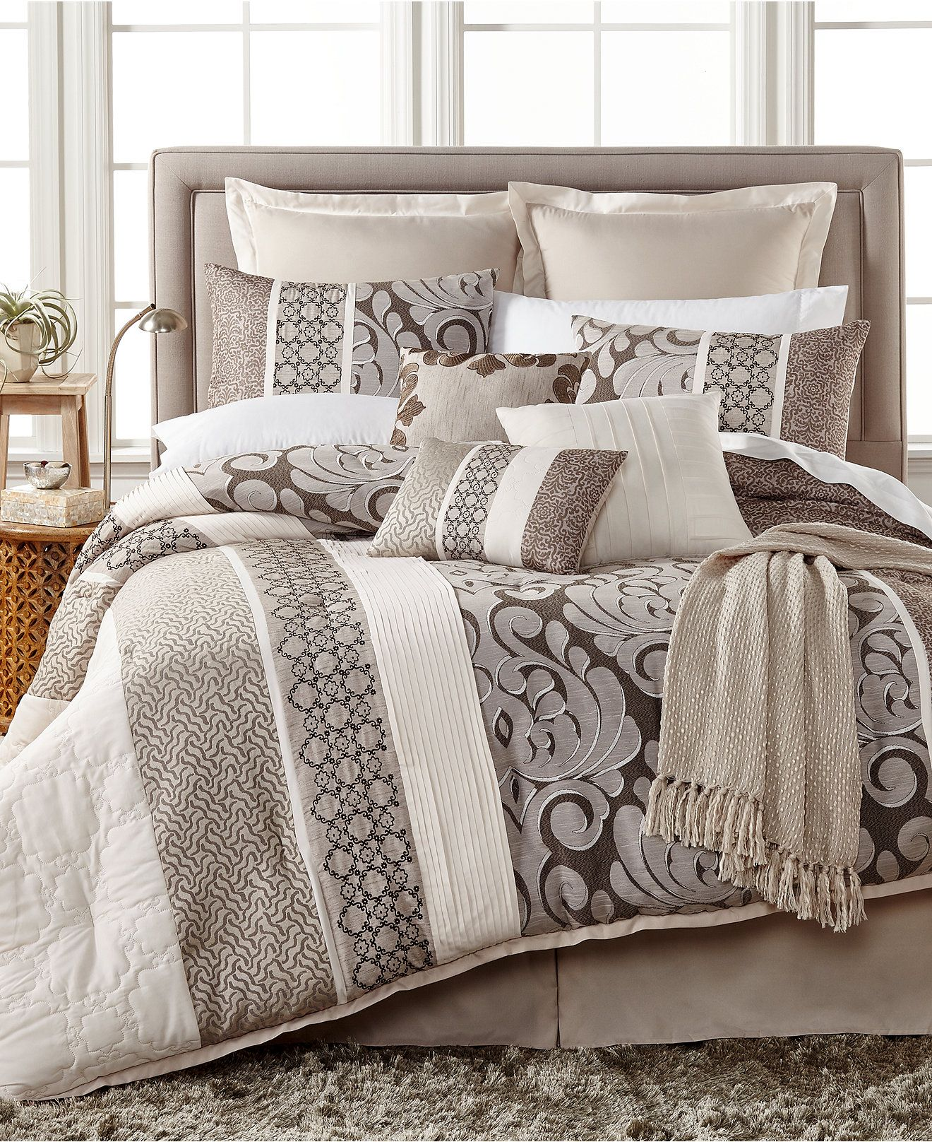 Leighton 10-Pc. Comforter Sets - Bed in a Bag - Bed & Bath ...