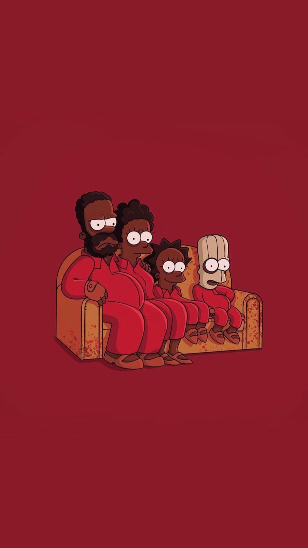 Us Movie Wallpaper Simpsons Red Cartoon Wallpaper Iphone Crazy