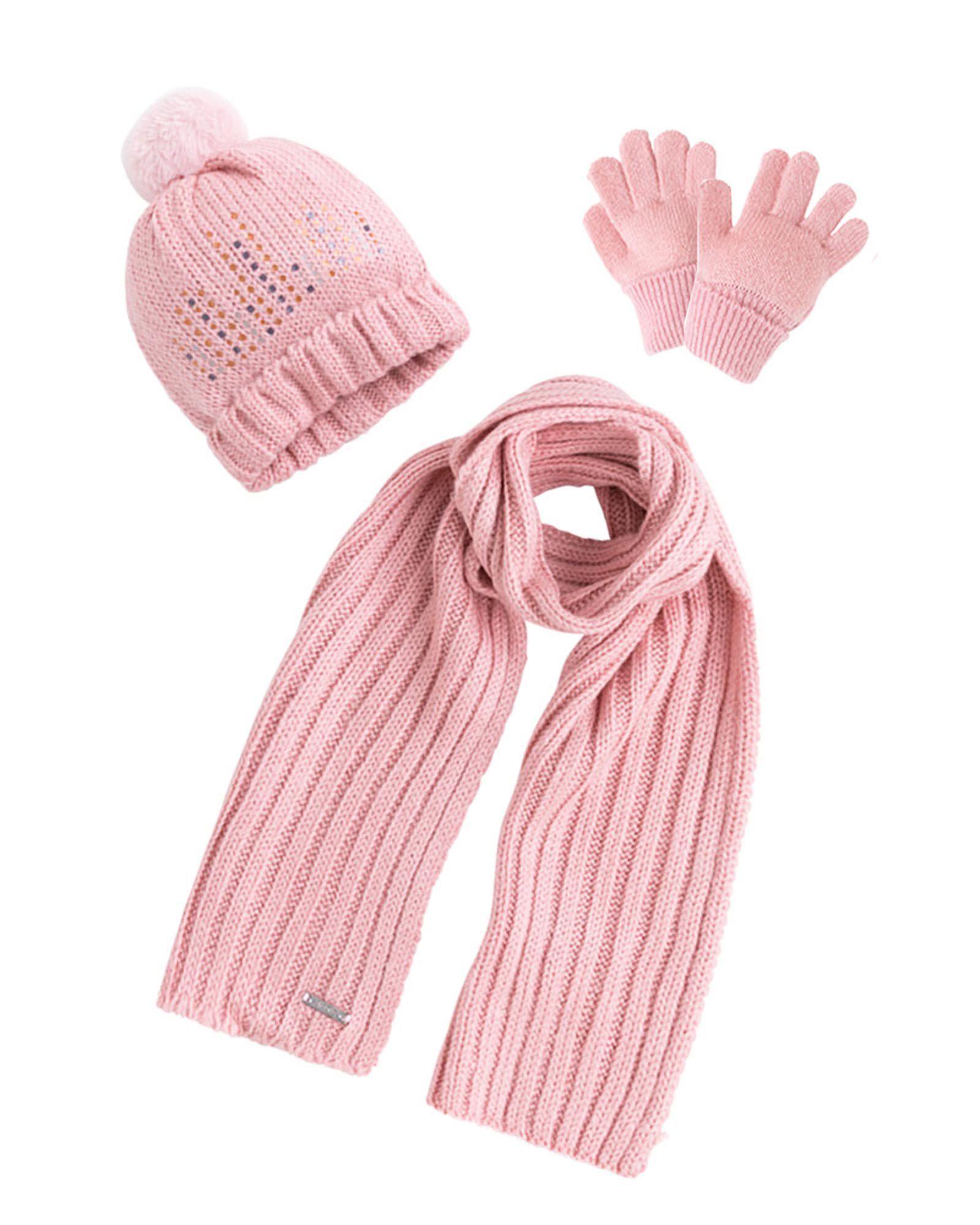 Jumping Beans Winter Pom Hat /& Gloves 2-Item Set for Girls