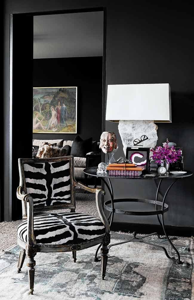 Zebra Pattern Animal Print Home Decor Interior Design Dark Interiors Decor Inspiration Decor
