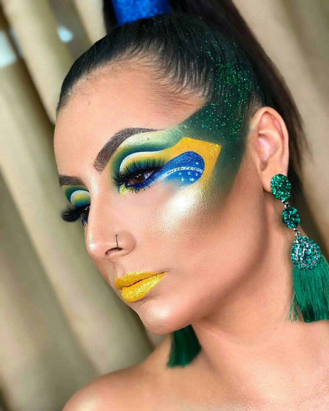 Maquiagem Para O Jogo Do Brasil Tattibueno Maquiagem Makeup Jogodobrasil Copadomundo Gostod Maquiagem Para Baile Maquiagem Artistica Ideias De Maquiagem