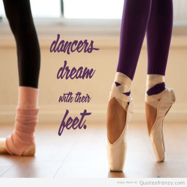 "Wall decals quote /""dancers dream with their feet/"" ballet dancer pointe"