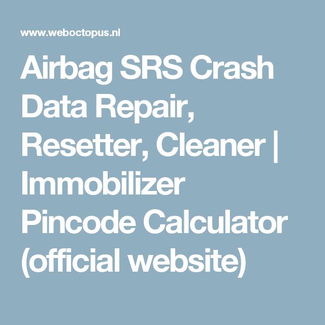 Airbag crash data calculator estimate